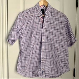 Tailorbyrd: Men's Plaid Short Sleeve Button-Down